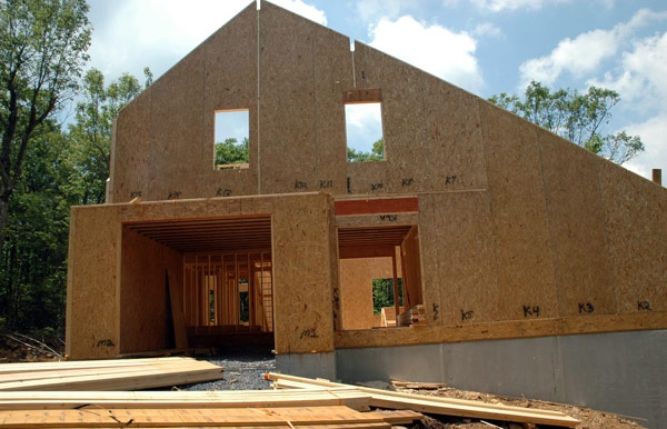 Structural SIP wall panels for Macfarlane Homes, VA, 2006