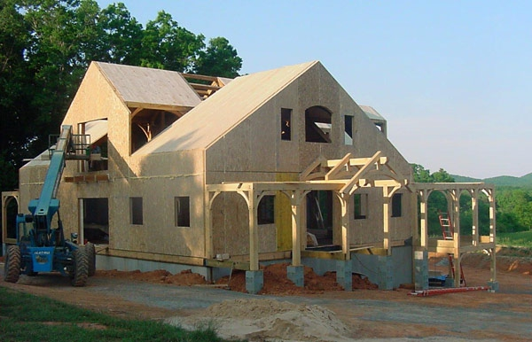 Timber frame with SIPs, Albermarle, NC, 2004