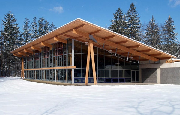 Structural SIPs for Pocono Environmental Education Center dining hall, Dingman's Ferry, PA, 2005