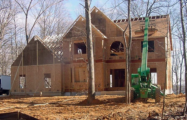 Structural residential SIPs in, Eldersberg, MD, 2009