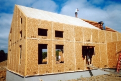 Timber frame barn built with SIPs