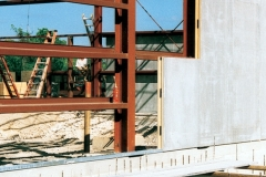 SIPs on steel frame for Cayman Islands strip mall project, 1990s