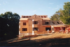 Under construction view, structural SIPs for residential project, Greenwich, CT, 2002