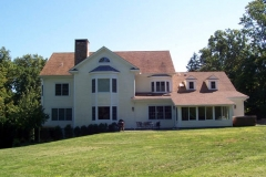 Rear view, structural SIPs for residential project, Greenwich, CT, 2002