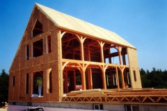Timber frame with SIPs, Salisbury, NH, 2002