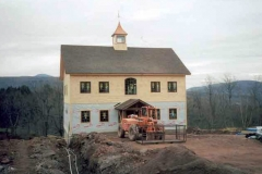 SIP timber frame barn for Heritage Restorations, Windham, NY, 2004