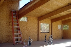 SIP interior with glue-lam frame, Pierce Builders, Granby, CT, 2008